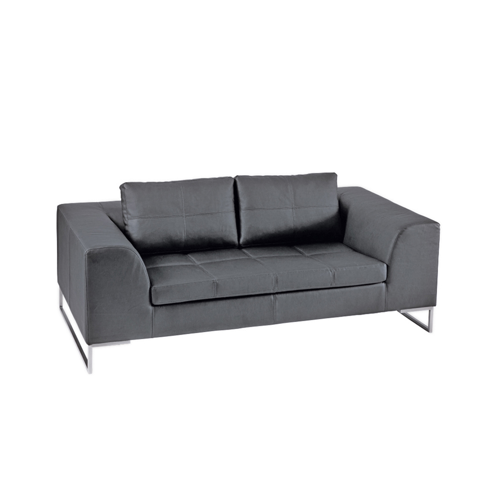 Vienna Two Seater Sofa Grey. Loading Zoom