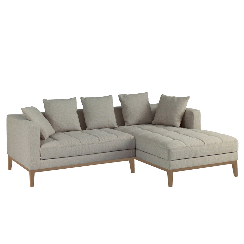 Limoges Right Hand Corner Sofa Pewter Dwell