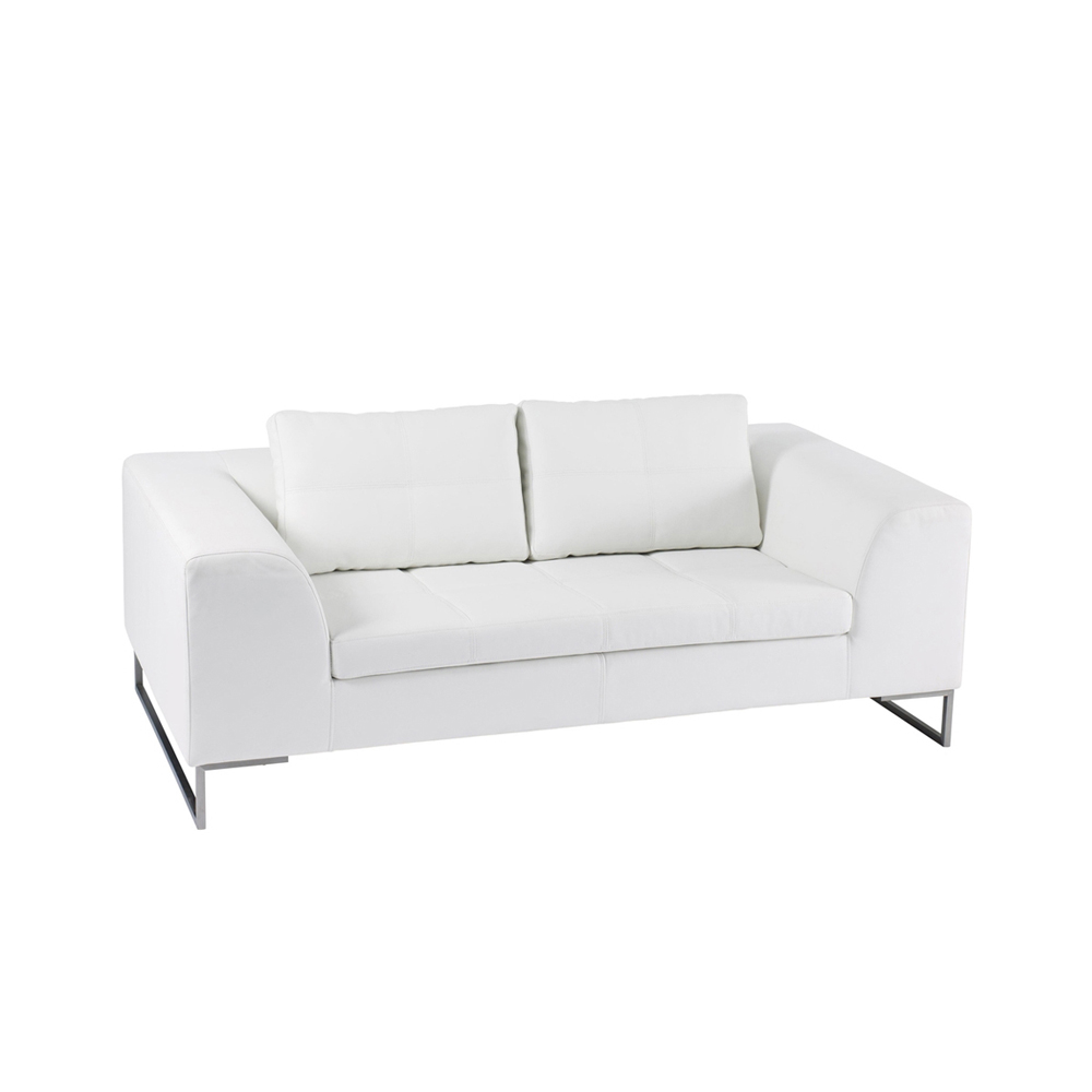 Superior Vienna Leather Two Seater Sofa White. Loading Zoom