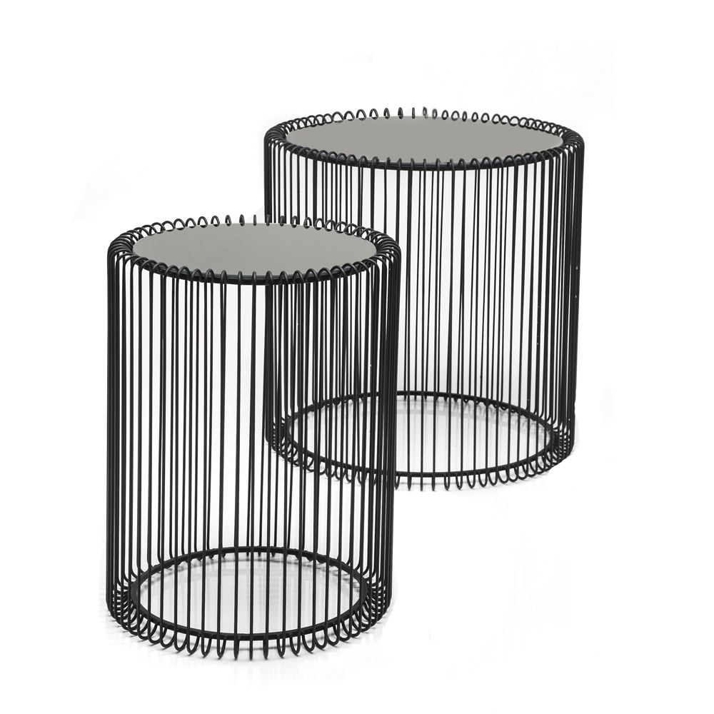 Wire Cage Side Table Black Dwell