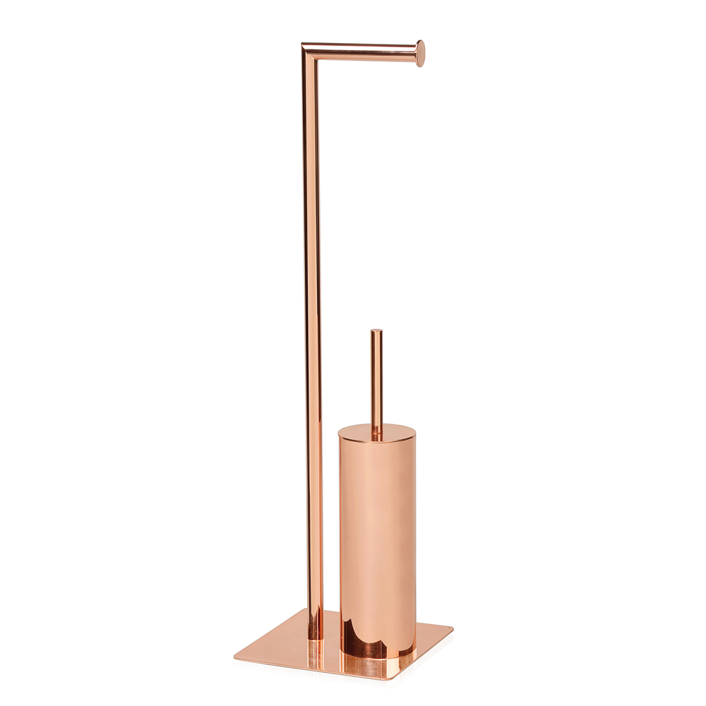 Copper Toilet Paper And Brush Holder Dwell