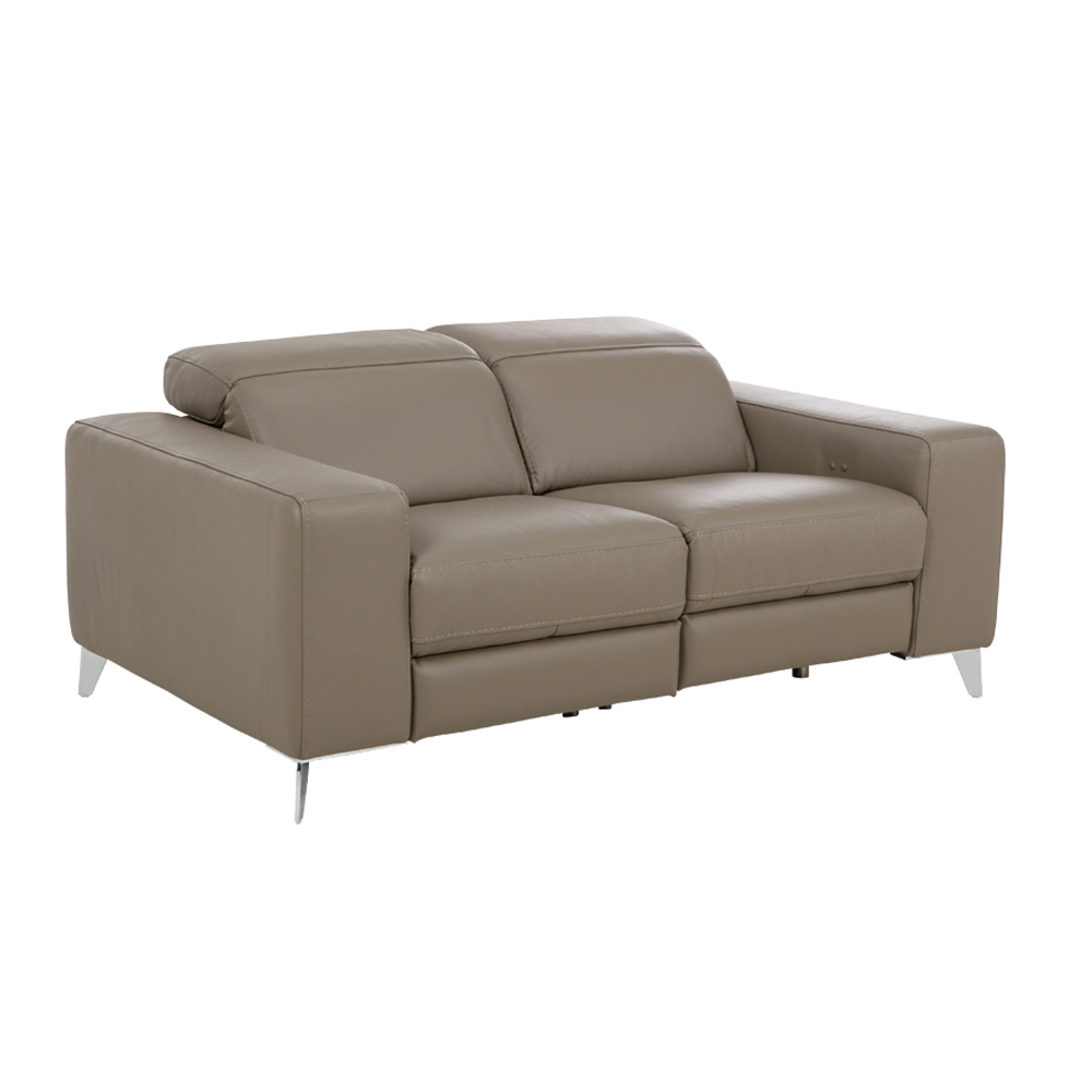 Leather Electric Reclining Sofa Prato 3 Seater Electric Leather Reclining Sofa Sofasworld