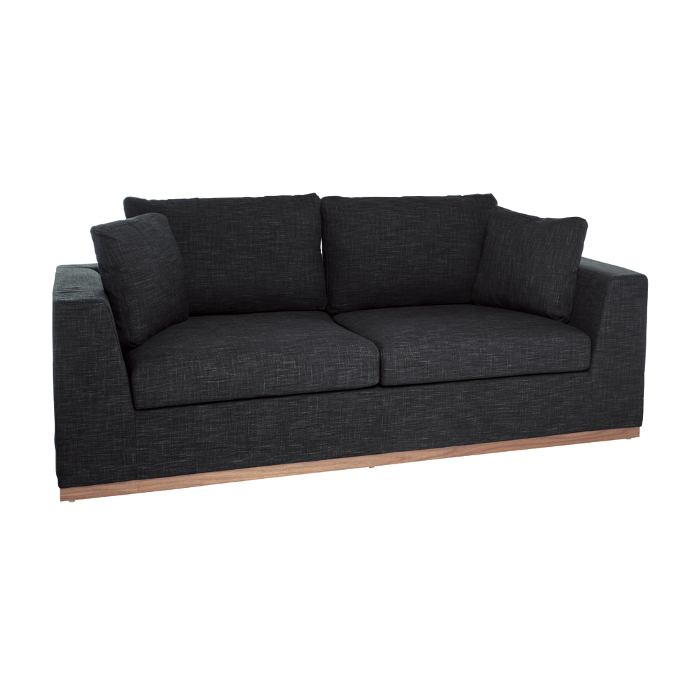 Seville sofa bed three seater charcoal dwell for Charcoal sofa