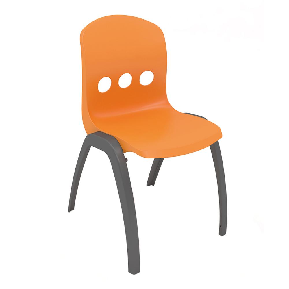 Dlb Chair Orange With Grey Legs Dwell