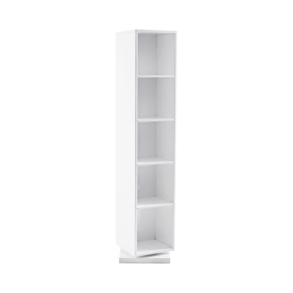 Freestanding Rotating Storage Mirror White Dwell