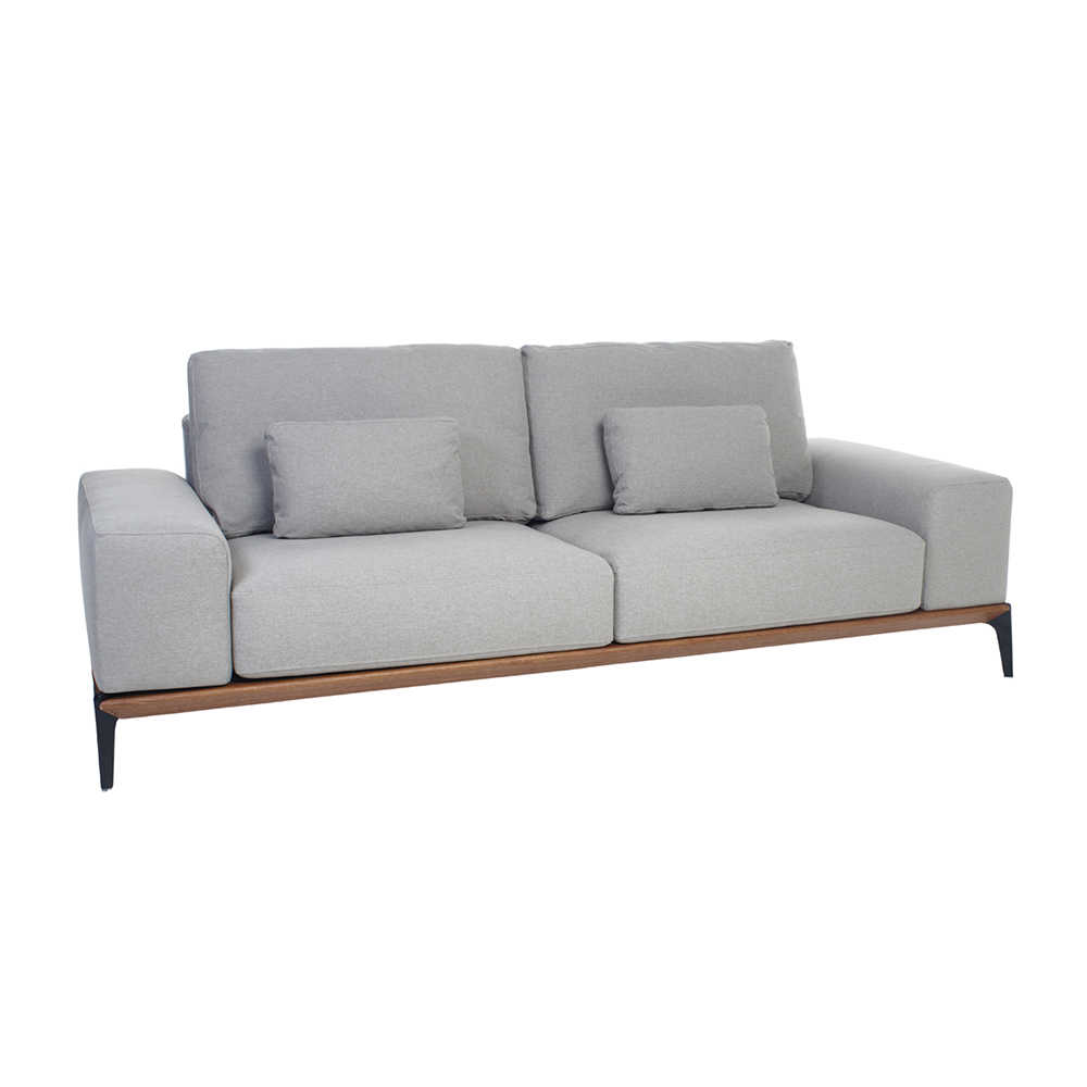 malmo three seater sofa light grey dwell. Black Bedroom Furniture Sets. Home Design Ideas