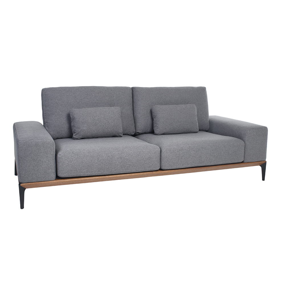malmo three seater sofa grey dwell. Black Bedroom Furniture Sets. Home Design Ideas