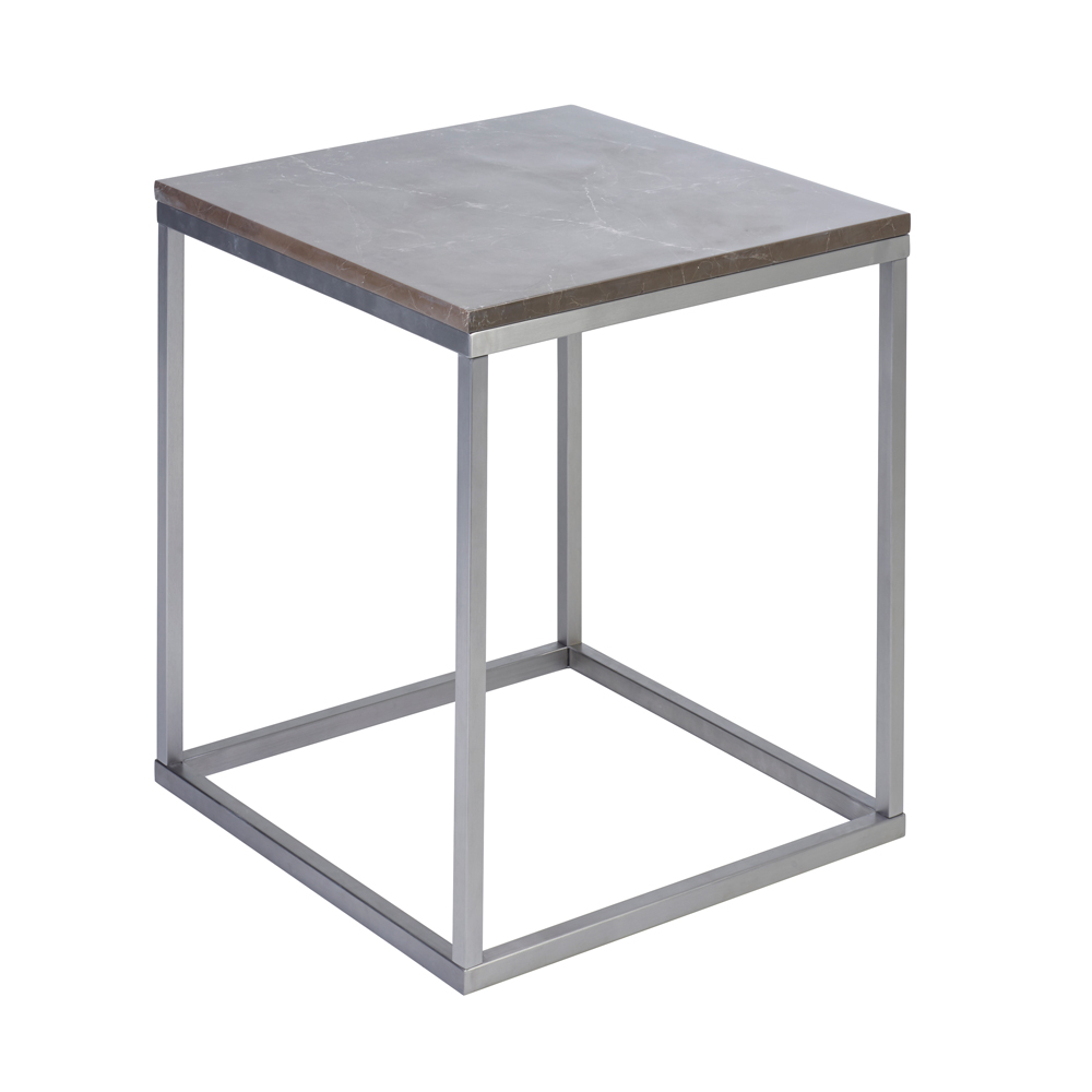 Marble Side Table Grey Dwell