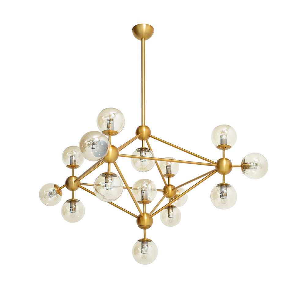 Cluster pendant light brass 15 bulbs dwell cluster pendant light brass 15 bulbs loading zoom aloadofball Image collections