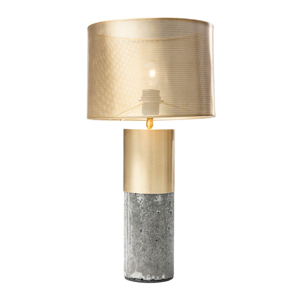 Brass And Concrete Table Lamp Dwell