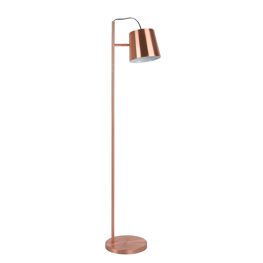 Cambiano floor lamp copper dwell for Copper floor lamp adelaide
