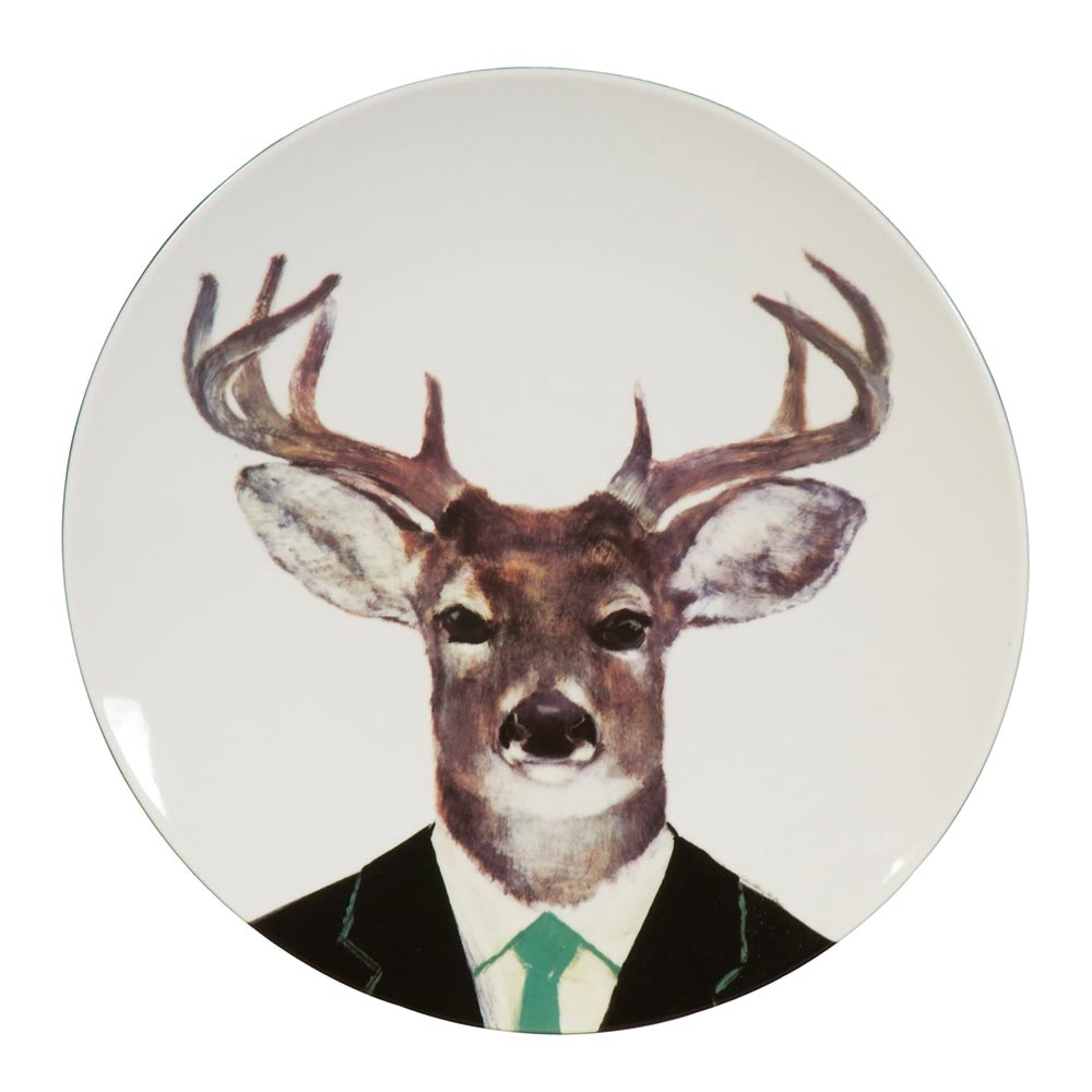 Stag head decorative plate dwell - Decorative stags head ...