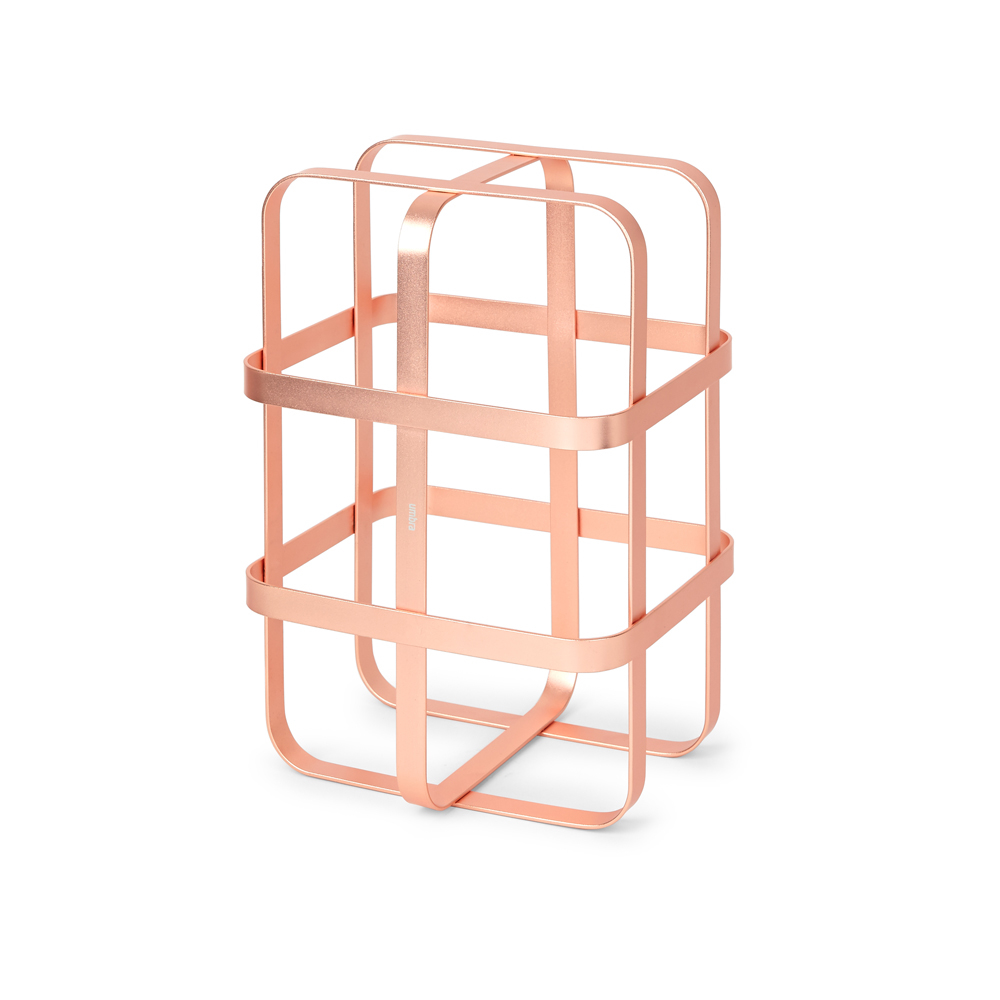 Cage Wine Rack Copper Dwell