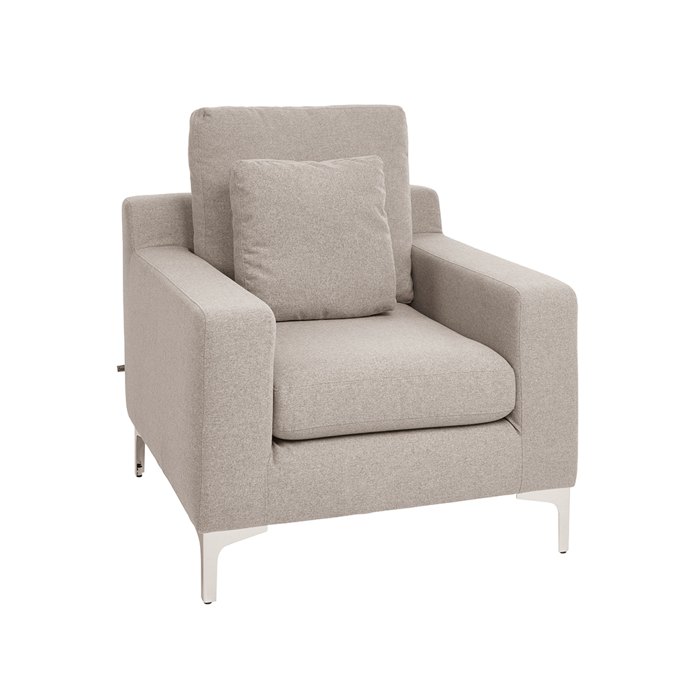 Light grey armchair - Oslo Armchair Light Grey Felt Loading Zoom
