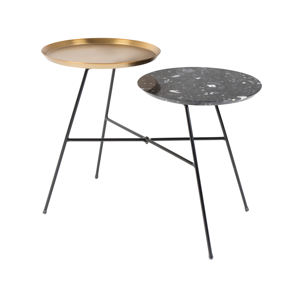 tiered side table black and gold dwell : 1000 144288 from dwell.co.uk size 1000 x 1000 jpeg 160kB