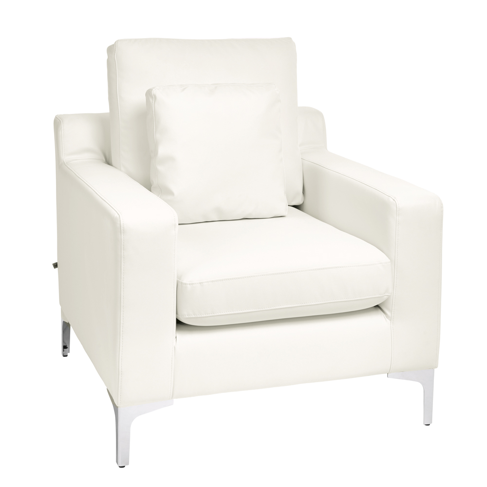 oslo faux leather armchair brilliant white - dwell