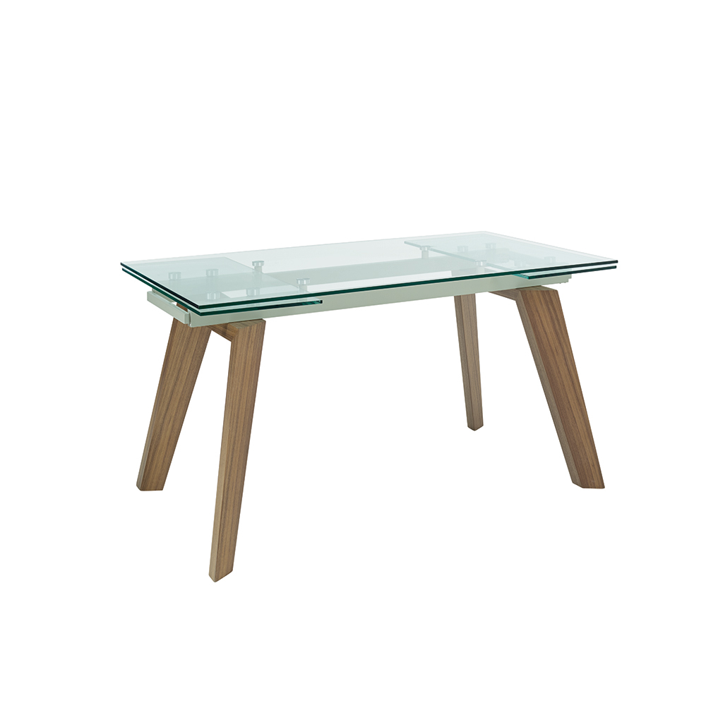 Panama glass extending 6-8 seater dining table