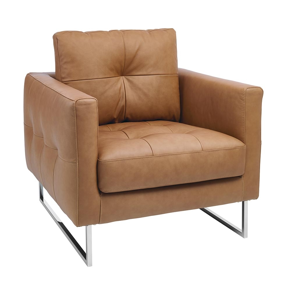 Paris Faux Leather Armchair Tan Dwell