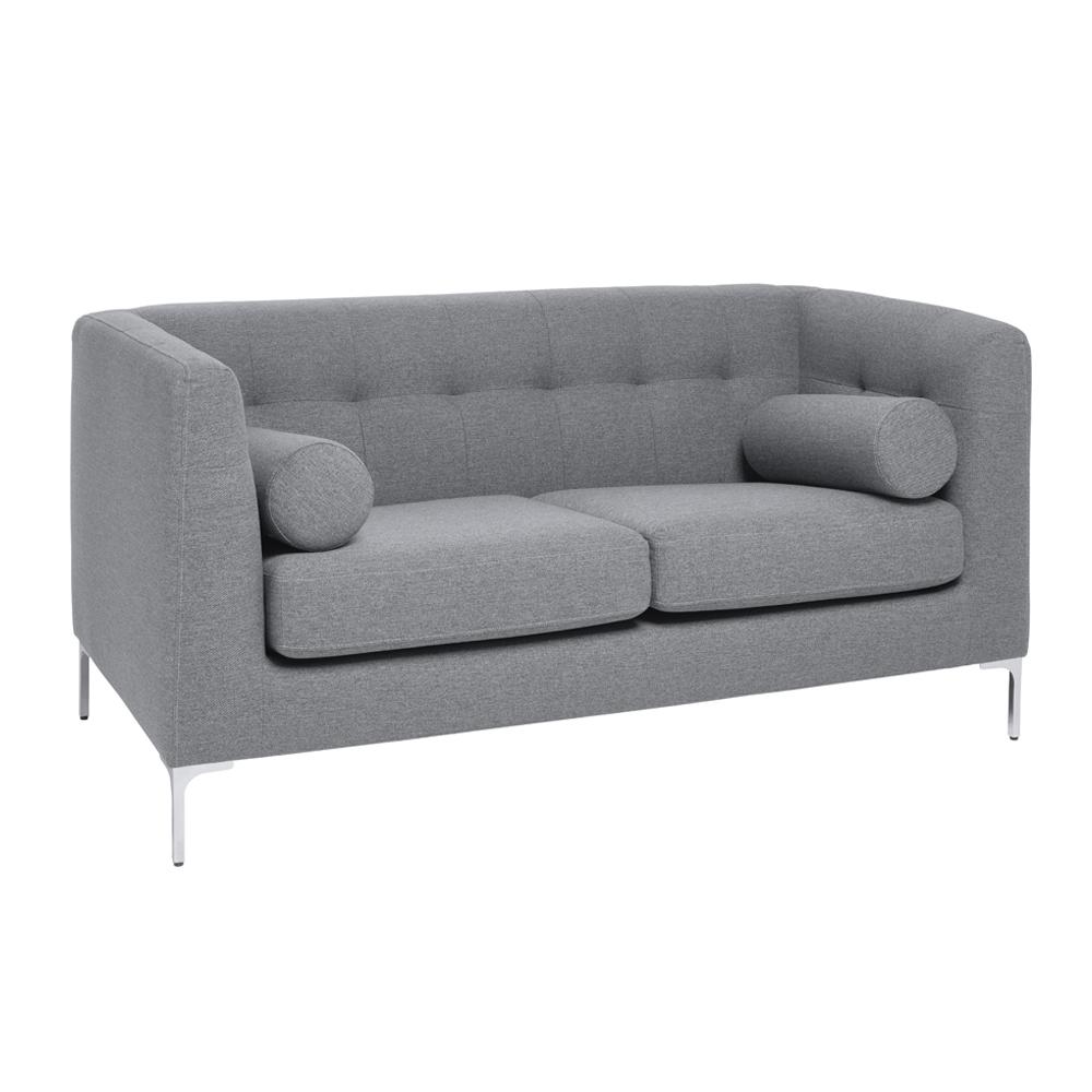 Lyon two seater sofa grey fabric