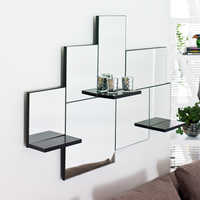 Triple shelf mirror