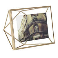 Prism picture frame medium brass