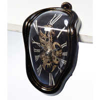 Melting table clock antique black