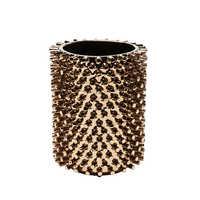 Riveted vase wide copper