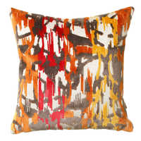 Abstract flame cushion
