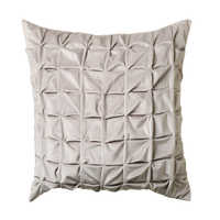 Quilted cushion silver