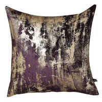 Otello metallic velvet cushion purple