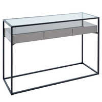 Drift console table stone gloss