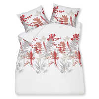 Fern duvet set king pink