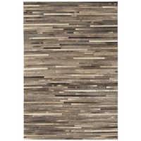 Gaucho rug dark grey stripe medium