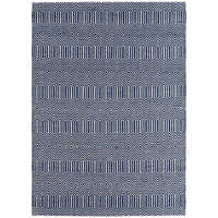 Tunis rug medium blue