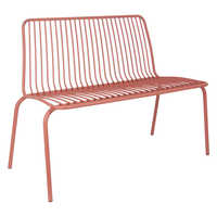 Henley outdoor bench coral metal