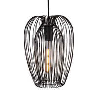 Strand pendant light black medium