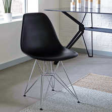Eiffel dining chair with metal legs ...