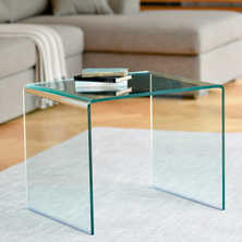 Puro tempered glass side table clear