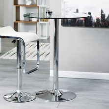 Palermo round bar table clear