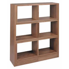 Extending walnut shelving
