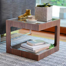 Modular side table walnut
