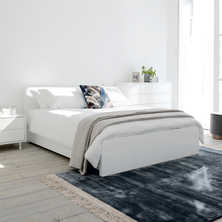 Malone bed double white