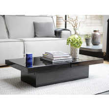 Two block storage coffee table black