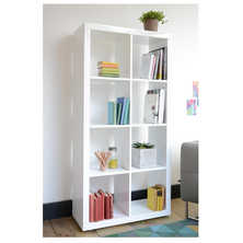 Porto eight cube shelving white
