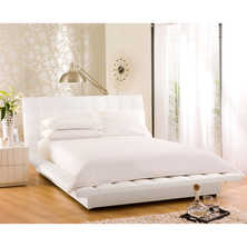 Kingsley padded bed double white
