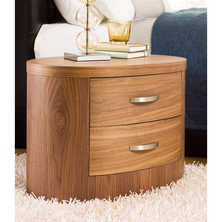 Capri bedside table walnut