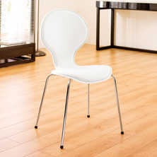 Gloss back dining chair white