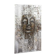 Antique buddha canvas