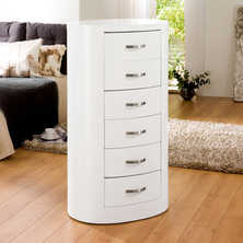 Capri chest of drawers white