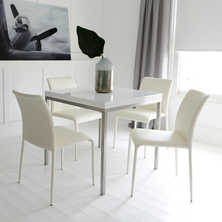 Flick extending dining table white